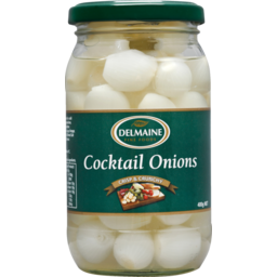 Photo of Delmaine Cocktail Onions 400g