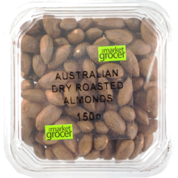 Photo of The Market Grocers Almonds Australian Dry Roasted 150g