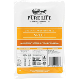 Photo of Purelife Sprouted Spelt Bread 1kg