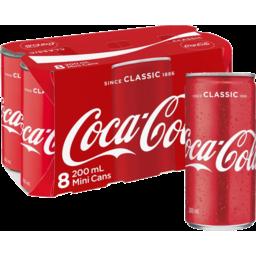 Photo of Coca Cola 8x200ml