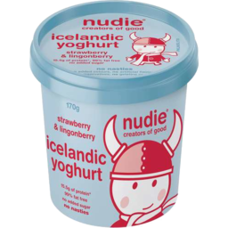 Photo of Nudie Icelandic Yoghurt - Strawberry & Lingonberry 170gm