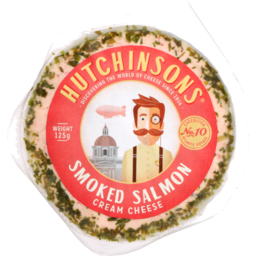 Photo of Hutchinsons Flavoured Cream Cheese Smoked Salmon 125g