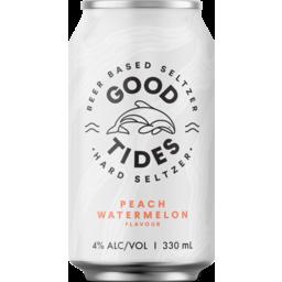 Photo of Good Tides Seltzer Peach Watermelon 10 Pack