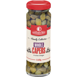 Photo of Sandhurst Whole Capers In Wine Vinegar 110g
