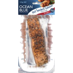 Photo of Ocean Blue Hot Smoked Salmon - Pepper 125gm