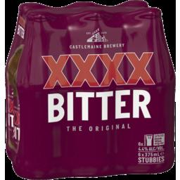 Photo of XXXX Bitter Stubbie 6 Pack