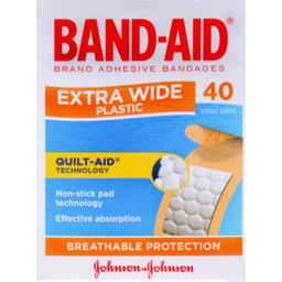 Photo of Bandaid Plastic Strip X Wide 40's