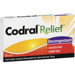 Photo of Codral Relief Decongestant 20 Tablets