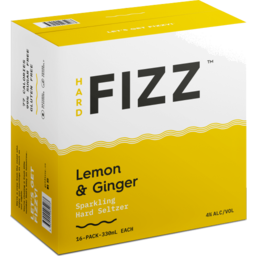 Photo of Hard Fizz Lemon & Ginger Seltzer Cans - 16 X 330ml