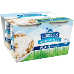 Photo of Liddells Yoghurt Lactose Free Plain 4 x 140g