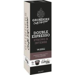 Photo of Grinders Double Espresso Coffee Capsules 10 Pack X 80g