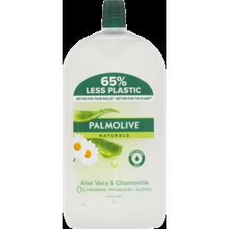 Photo of Palmolive Naturals Liquid Hand Wash Soap Aloe Vera & Chamomile With Moisturising Milk Refill & Save Recyclable 1l