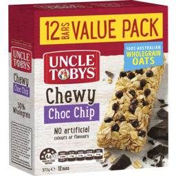 Photo of Uncle Tobys Chewy Choc Chip 12 Bars Value Pack 375g