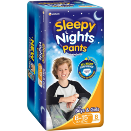 Photo of Babylove Sleepy Nights 8 To 15 Years 8pk