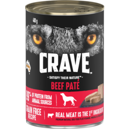 Photo of Crave Beef Pate Dog Food 400g