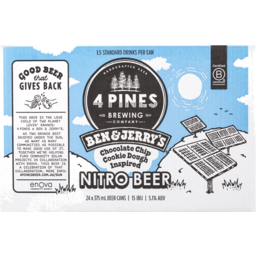 Photo of 4 Pines Ben & Jerrys Choc Chip Cookie Nitro Ale Can