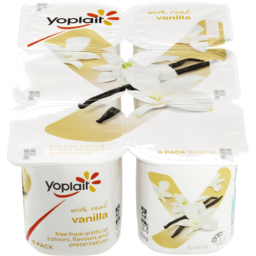 Photo of Yoplait Real Fruit Vanilla 6x160g