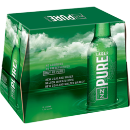 Photo of NZ Pure Lager 330ml 12 Pack