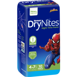 Photo of Huggies Dry Nites Boys Size 4 4-7 Years 10pk