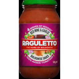 Photo of Raguletto Red Wine & Garlic Bolognese Sauce 500g