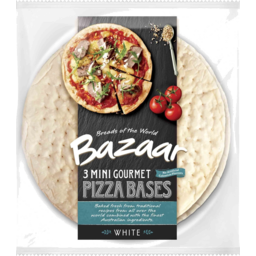 Photo of Bazaar Gourmet Pizza Bases Single Serve 3pk