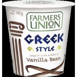 Photo of Farmers Union Greek Style Yogurt Vanilla 140gm