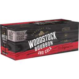 Photo of Woodstock Bourbon & Cola 4.8% 375ml 10 Pack