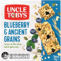 Photo of Uncle Tobys Muesli Bar Blueberry & Ancient Grains 175gm