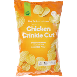 Photo of WW Crinkle Cut Chicken Potato Chips 150g