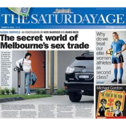 Photo of The Age Newspaper (Saturday)