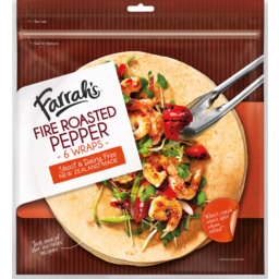 Photo of Farrah's Wraps Fire Roasted Pepper 6 Pack