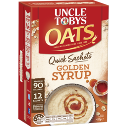 Photo of Uncle Tobys Oats Quick Sachets Golden Syrup 420g