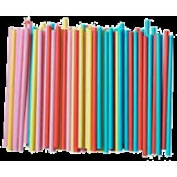 Photo of Carnival Jumbo Plastic Drinking Straws
