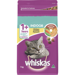 Photo of Whiskas 1+ Years Indoor Dry Cat Food Chicken & Turkey Flavour 1kg