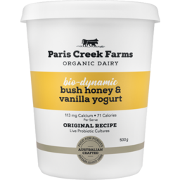 Photo of Paris Creek Bio-Dynamic Bush Honey & Vanilla Yoghurt