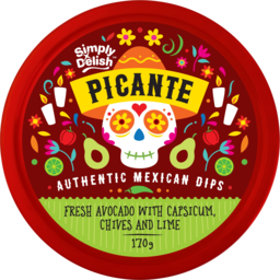 Photo of Simply Delish Picante Dip Fresh Avocado With Capsicum Chives & Lime 170g
