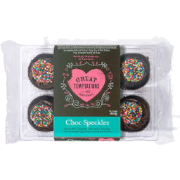 Photo of Great Temptations Choc Speckles Muffin 6pk 260gm