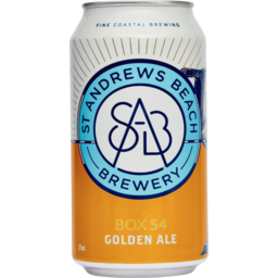 Photo of St Andrews Beach Brewery Box54 Golden Ale 375ml