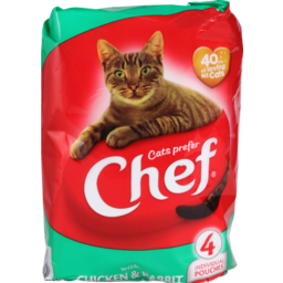 Photo of Chef Cat Food Pouch Chicken & Rabbit 4 Pack