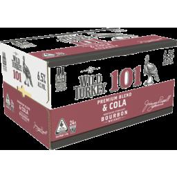 Photo of Wild Turkey 101 Bourbon & Cola Bottle 340ml 24 Pack