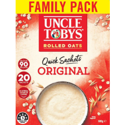 Photo of Uncle Tobys Oats Original Quick Sachets 20 Pack 680g