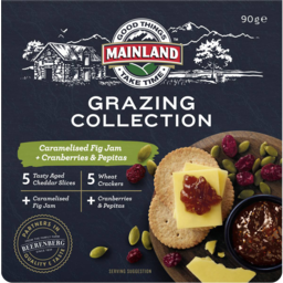 Photo of Mainland On The Go Fig Jam, Cranberries & Pepitas 90gm