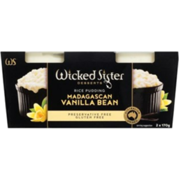 Photo of Wicked Sister Vanilla Bean Rice Pudding 2x170g