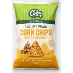 Photo of Cobs Ancient Grain Corn Chips Cheesy Chedda