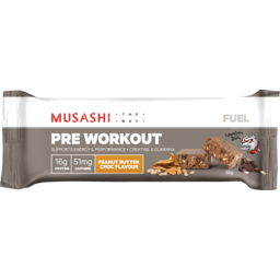 Photo of Musashi Fuel Peanut Butter Choc Flavour Pre Workout Bar 65g