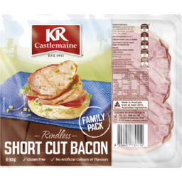 Photo of Kr Castlemaine Rindless Short Cut Bacon 630g