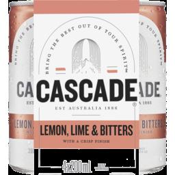 Photo of Cascade Lemon Lime & Bitters Multipack Mini Cans 4x200ml