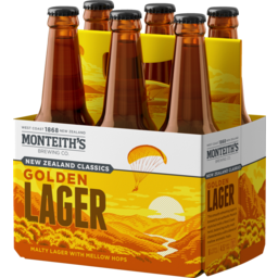 Photo of Monteith's Classics Golden Lager 330ml Bottles 6 pack