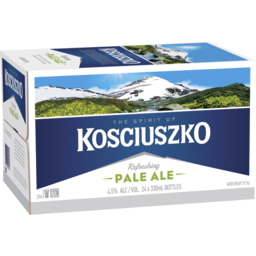 Photo of Kosciuszko Pale Ale 24 X 330ml Bottle Carton
