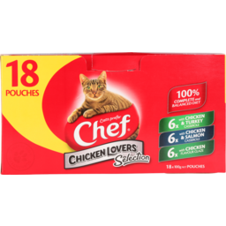 Photo of Chef Cat Food Pouch, Chicken Lovers Variety 18 Pack